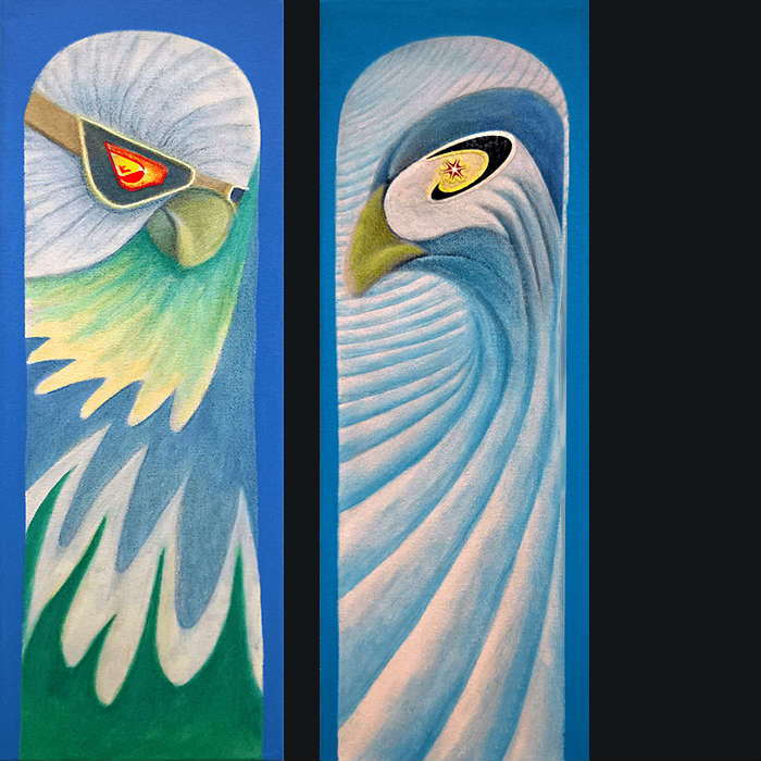 Tree Topper and Bluebird Corduroy by Don Wesley